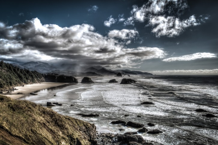 The Rocky Shoreline of Cannon Beach